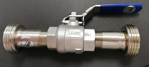 "3/4"" BSP Ball Valve with 1"" RJT Male or/and Female Unions"
