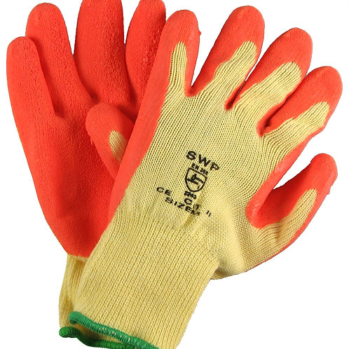 Dipped Gripper Gloves Orange Pack of 10 pairs