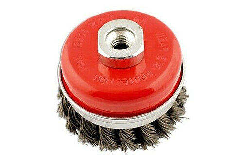 Abracs M14 Thread 70mm Twisted Knot Wire Cup Brush
