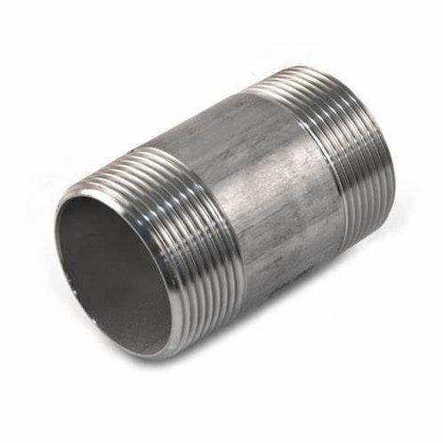 BSP Stainless Steel Barrel Nipple- 150lb