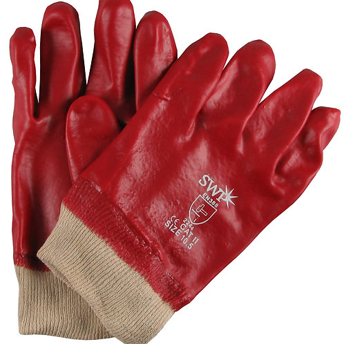 PVC Dipped Gloves Red Pack of 10 pairs