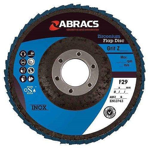 Abracs Pro Zirconium Flap Disc 115mm x 22mm  Pack of 25 discs