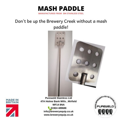 Up the brewers creek without a mash paddle