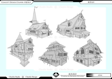 原畫角色概念設計課程作品