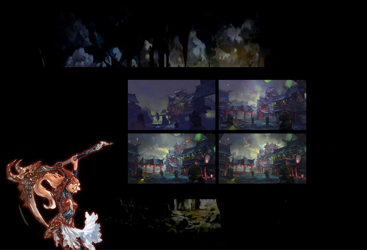 遊戲原畫概念設計班-電繪 角色設計 裝備設計 場景設計