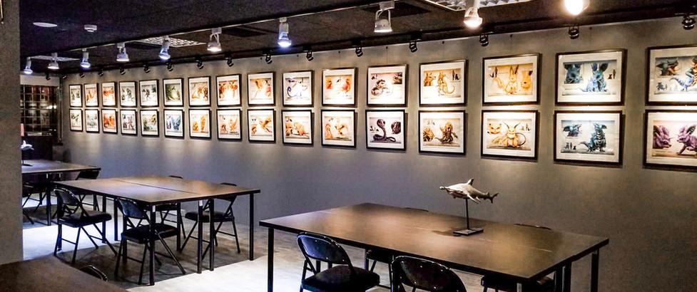 藝廊與學生休息區