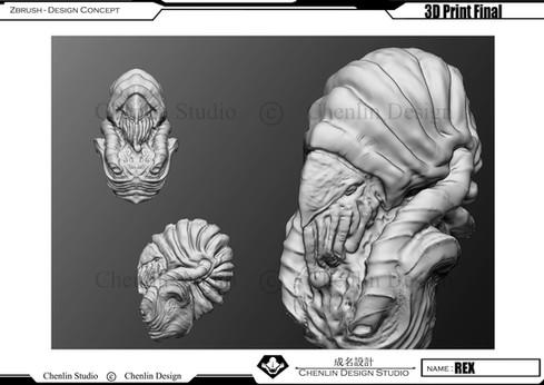 3D ZBRUSH 結構雕塑課程作品