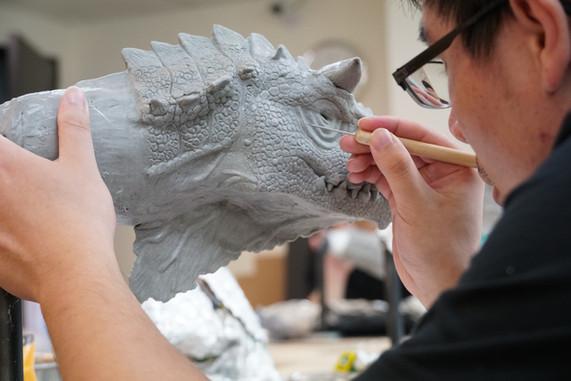 角色概念手工雕塑作品