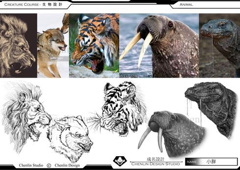 生物角色概念設計課程作品