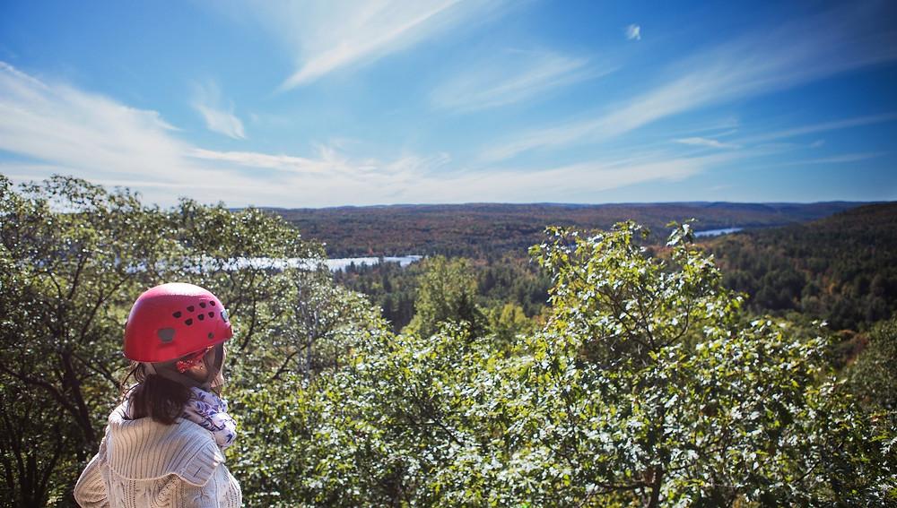 La vue du sommet au Parc Arbraska Rawdon
