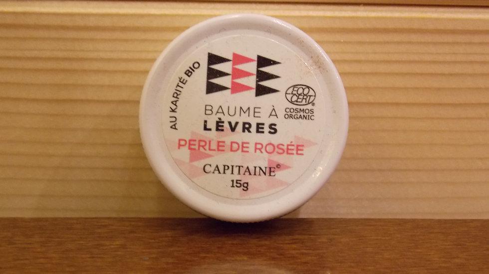 BAUME A LEVRES PERLE DE ROSEE bio CAPITAINE