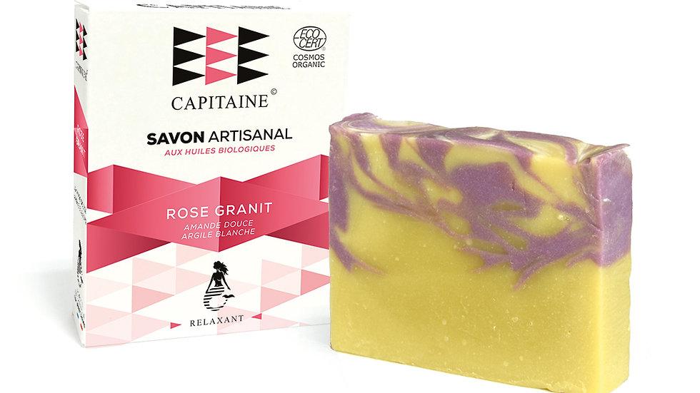 ROSE GRANIT SAVON ARTISANAL bio CAPITAINE