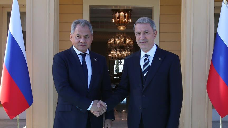 Turkey Minister of Defense, Hulusi Akar and Russia Minister of Defense, Sergey Shoygu