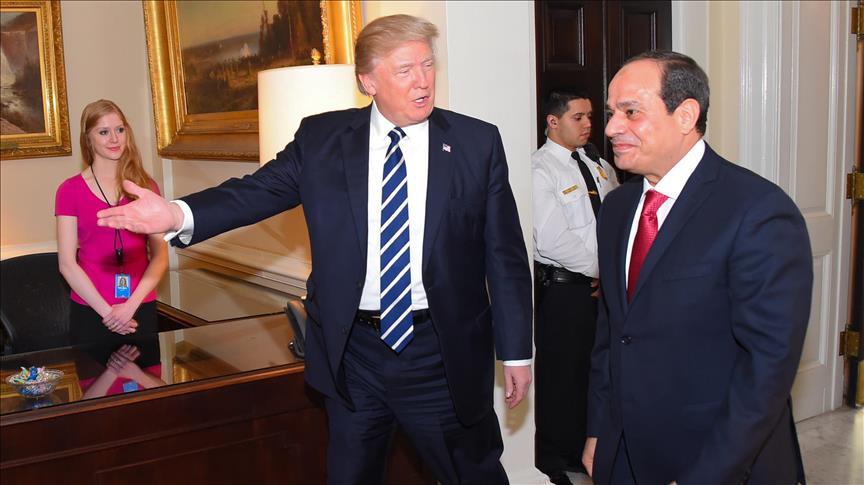 الرئيس الأمريكي ترامب والرئيس المصري السيسي