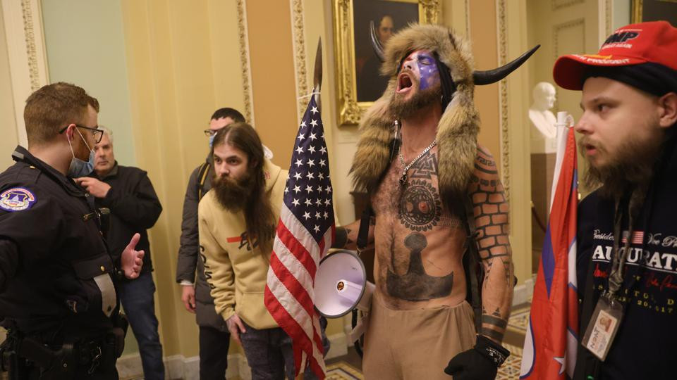 A scene from the rampage at Capitol Hill on January 6th, 2021