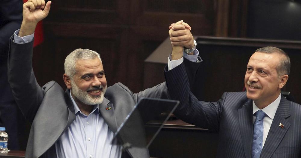 الرئيس التركي أردوغان والقيادي الأبرز بحركة حماس إسماعيل هنية