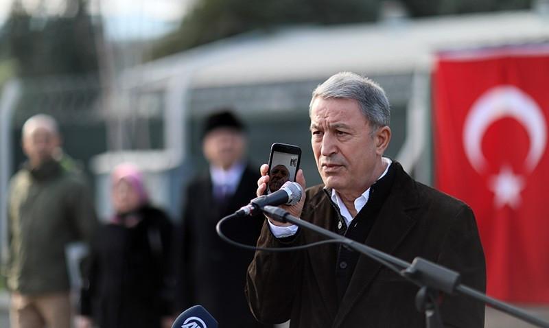 الوزير خلوصي أكار يتحدث مع أردوغان عبر الهاتف