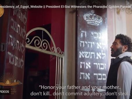 الاستعراض الملهم للحريات الدينية في مصر أثناء موكب المومياوات