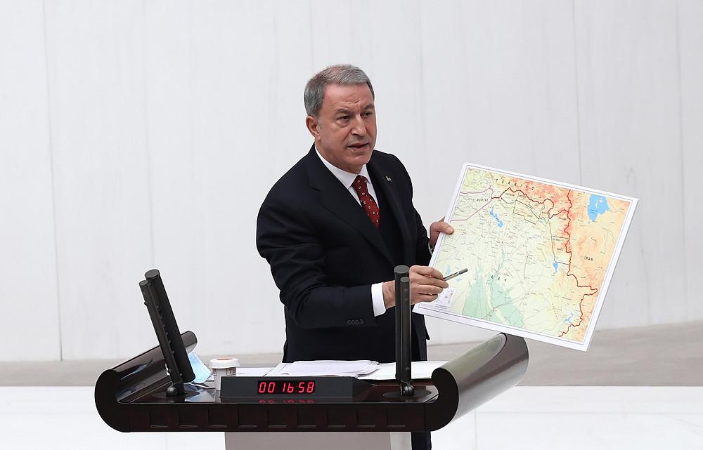 خلوصي أكار يشرح تفاصيل تنفيذ العملية العسكرية مخلب النسر-٢ في شمال العراق