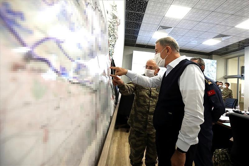 Turkish Defense Minister, Hulusi Akar and Chief of General Staff, Yaşar Güler
