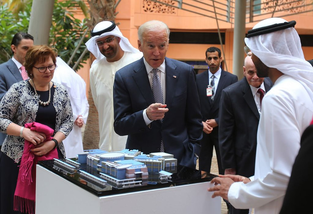 Photo from a former visit to Joe Biden, as Vice President to UAE