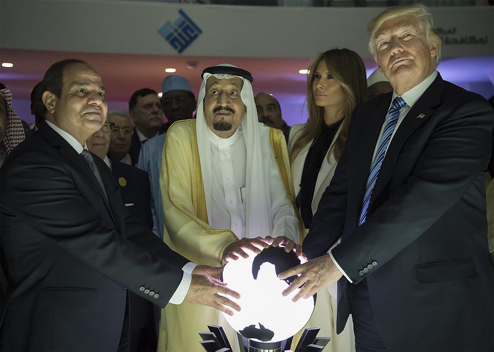 Egypt's President El-Sisi, Saudi Arabia's King Salman, U.S. President Trump and his wife