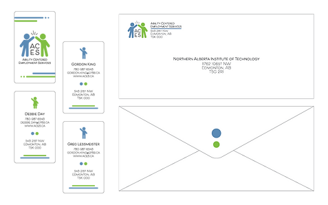 Stationery design for the Ability Centred Employment Services 2 of 2 Created with Adobe Illustrator
