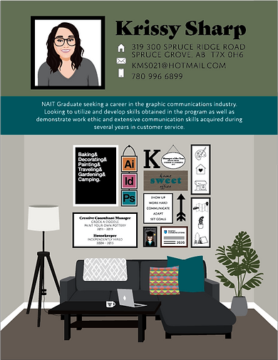 "Infographic Resume of my current ""Home Office"" using Adobe Illustrator"