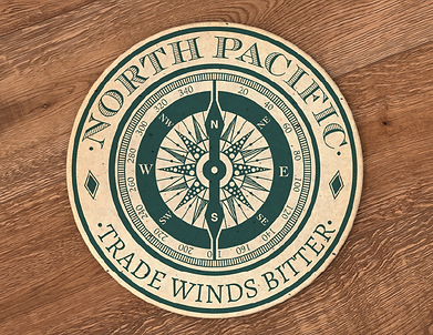 Beverage Coaster Design created in Adobe Illustrator and edited in Photoshop