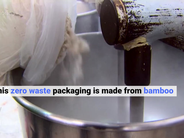 This zero waste packaging is made from bamboo