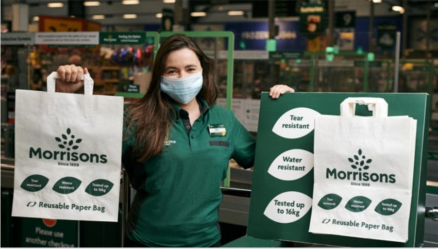 Morrisons removes all plastic bags for life from UK stores