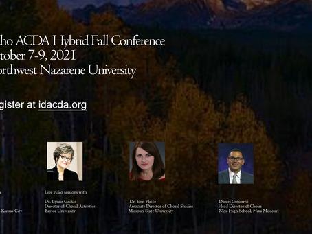 Idaho ACDA Hybrid Fall Conference
