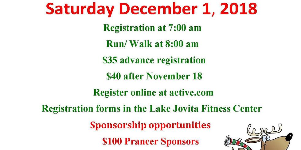 12th Annual 5k Reindeer Run at Lake Jovita