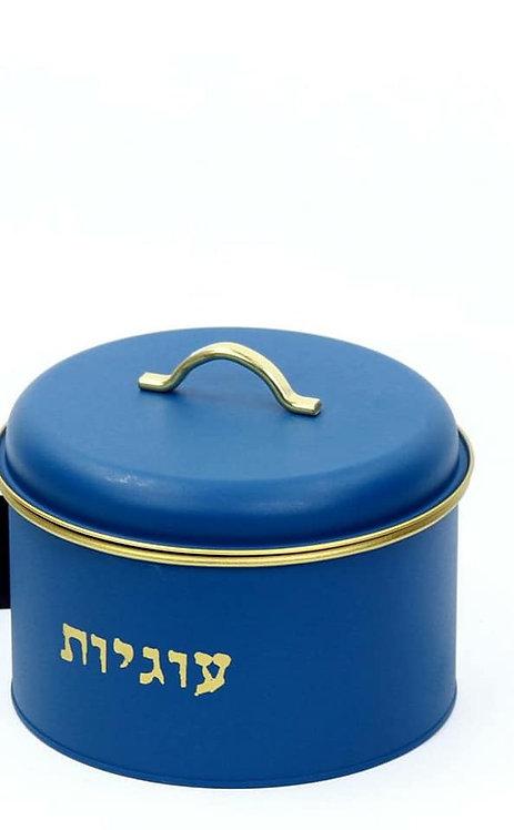 קופסה לעוגיות כחול