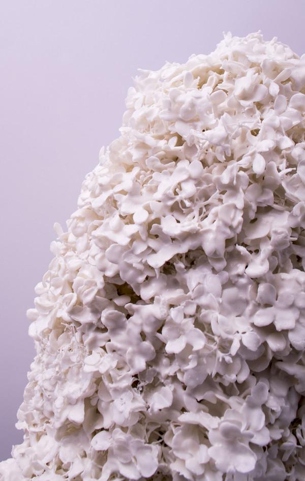 2018 détail fleurs enduites de porcelaine