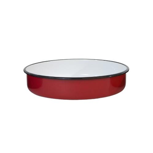תבנית אדומה בצבע עגול מאמייל
