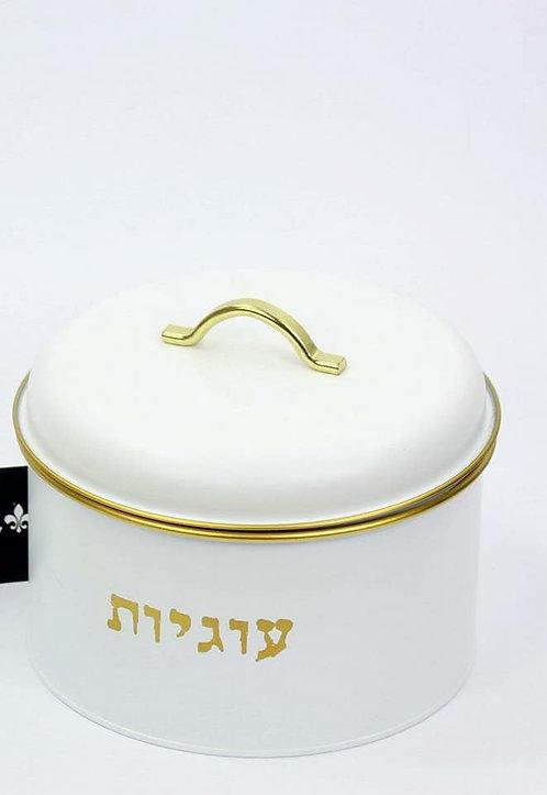 קופסא לעוגיות לבן