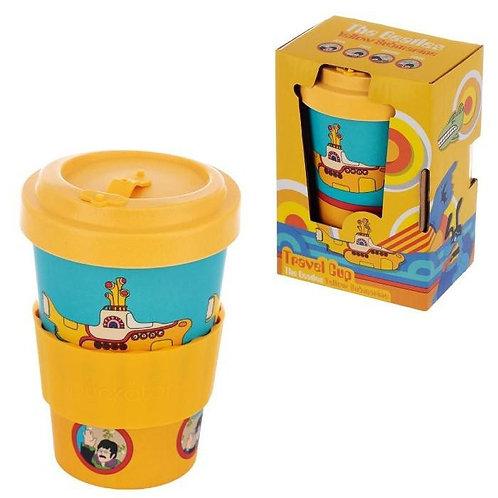כוס אקולוגית עם מכסה הברגה ביטלס Yellow Submarine