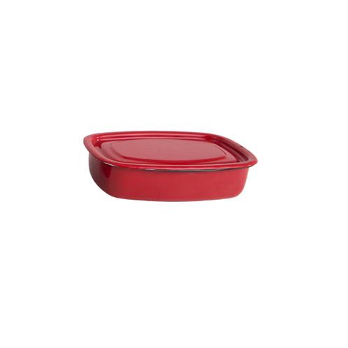 תבנית מלבנית עם מכסה 1.5 ליטר אדום