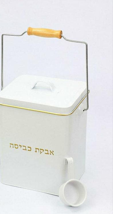 קופסה לאבקת כביסה לבנה 2 קג
