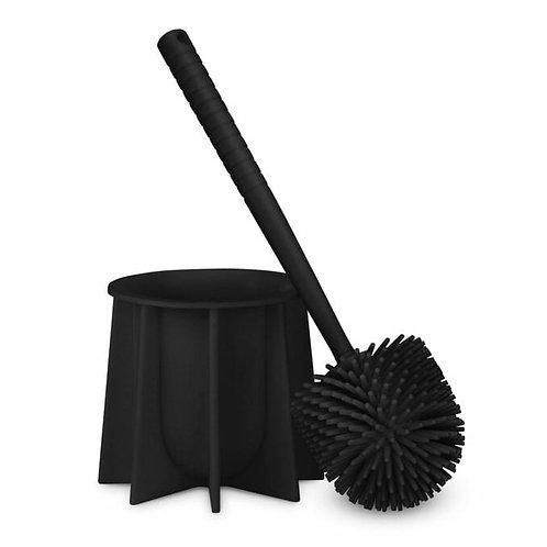 מברשת אסלה מסיליקון בצבע שחור