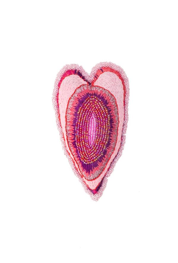2019 16x10 cm broderie en coton, perles de rocaille et velours   © Romain Bauer