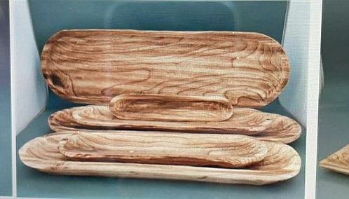 מגש עץ מגולף