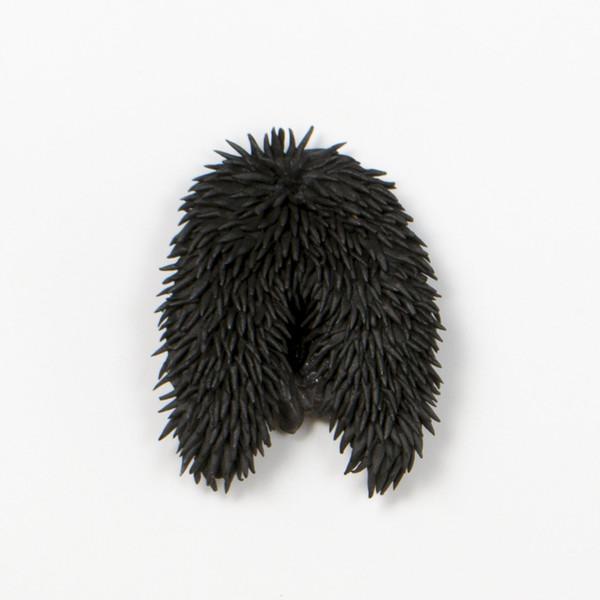 2015 12x10 cm grès noir, émail