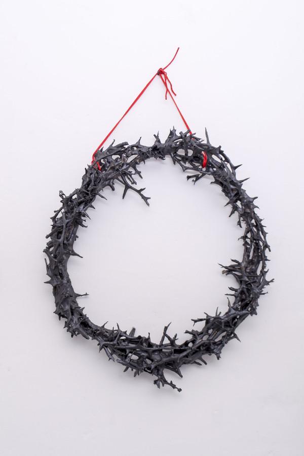 2018 50x50 cm branches enduites de grès noir