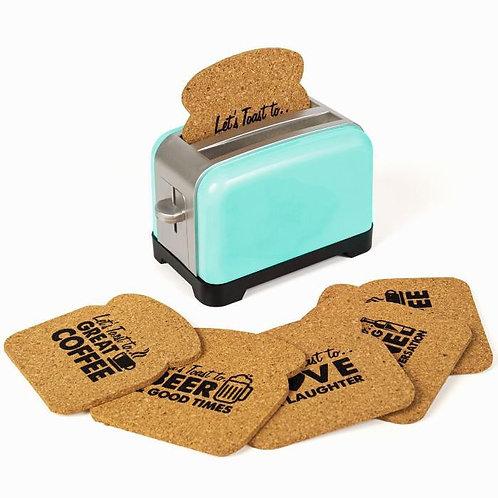 טוסטר תחתיות כוסות Toaster CoasteR