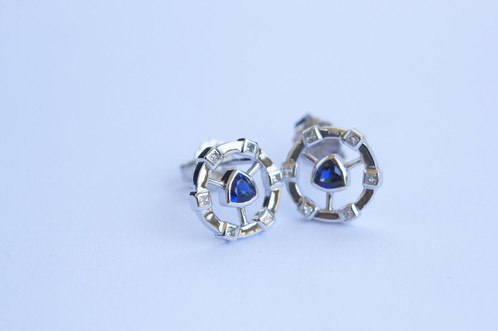 cut trillion diamond cfm eatrwg earrings stud earringdetails vs j tcw