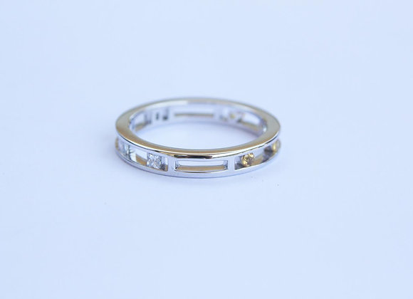 White Gold Stack Ring