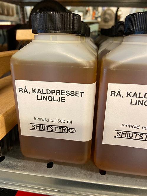 Rå, kaldpresset linolje 0,5 liter