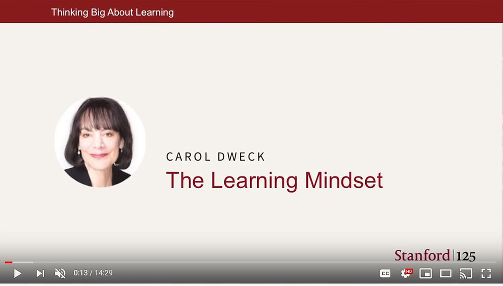 """Carol Dweck discusses """"Growth Mindset"""" in this short video"""